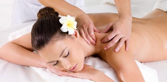 Woman in beauty salon having massage